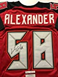Autographed/Signed Kwon Alexander Tampa Bay Buccaneers Red Football Jersey JSA COA