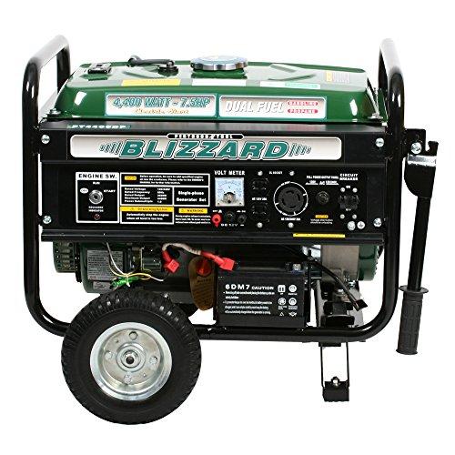 Pentagon Tools Blizzard PT4400DF Dual Fuel Portable Generator 7.5 HP Peak 4400W