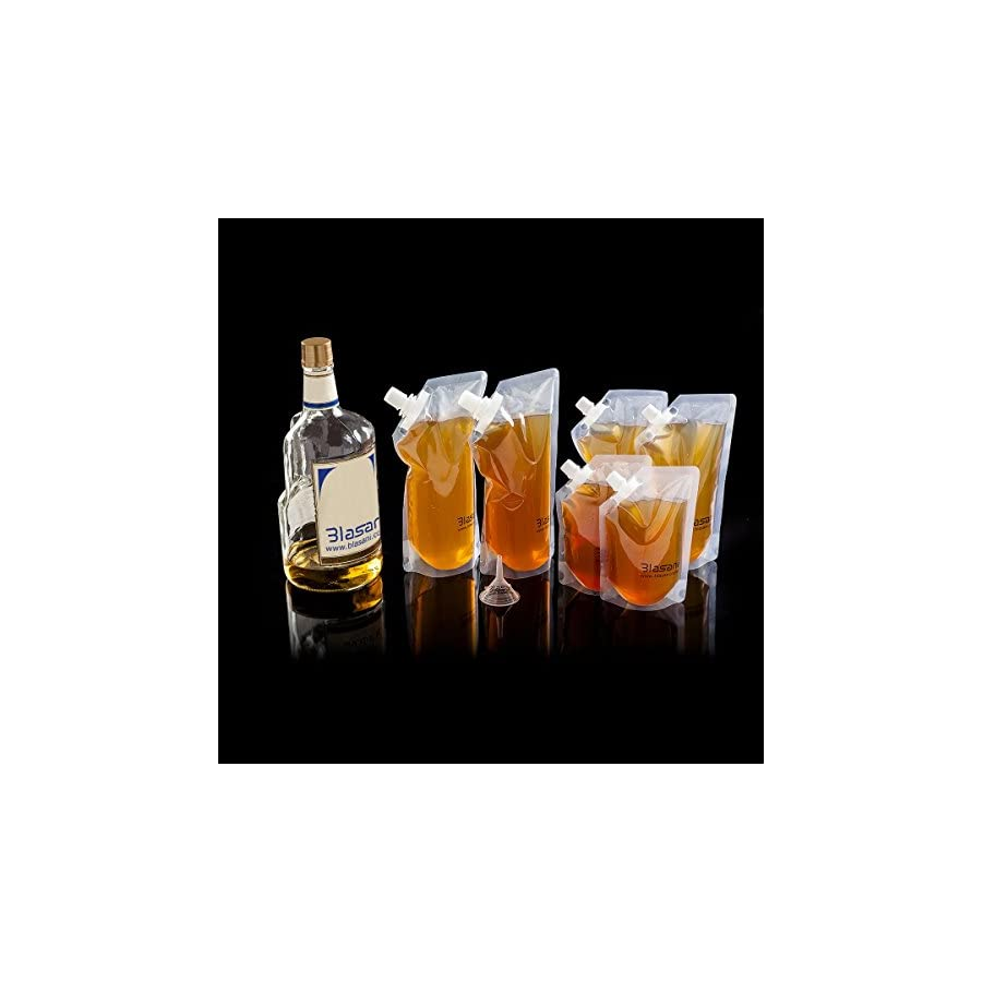 BLASANI Concealable Cruise Ship Rum Sneak Flask Kit Set (4 X 32 oz, 2 X 16 oz, 2 X 8 oz)