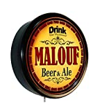 MALOUF Beer and Ale Cerveza Lighted Wall Sign