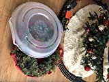 """Homz Holiday Wreath Plastic Storage Box, Up to 24"""", Red With Clear Lid, 6-Pack"""