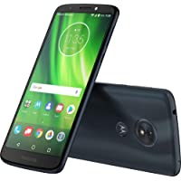 Verizon Prepaid Motorola Moto G6 Play 16GB No-Contract Smartphone, Deep Indigo Color - Locked to Verizon Wireless, Optional 16/64/128GB Expandable Storage