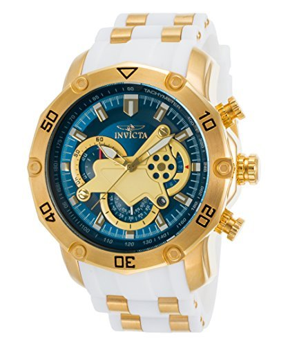 Invicta Men's Pro Diver Stainless Steel Quartz Watch with Silicone Strap, White, 26 (Model: 23423