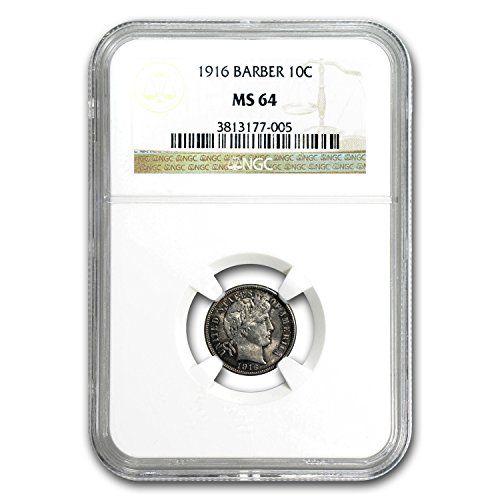 1916 Barber Dime MS-64 NGC Dime MS-64 - Dimes Ngc