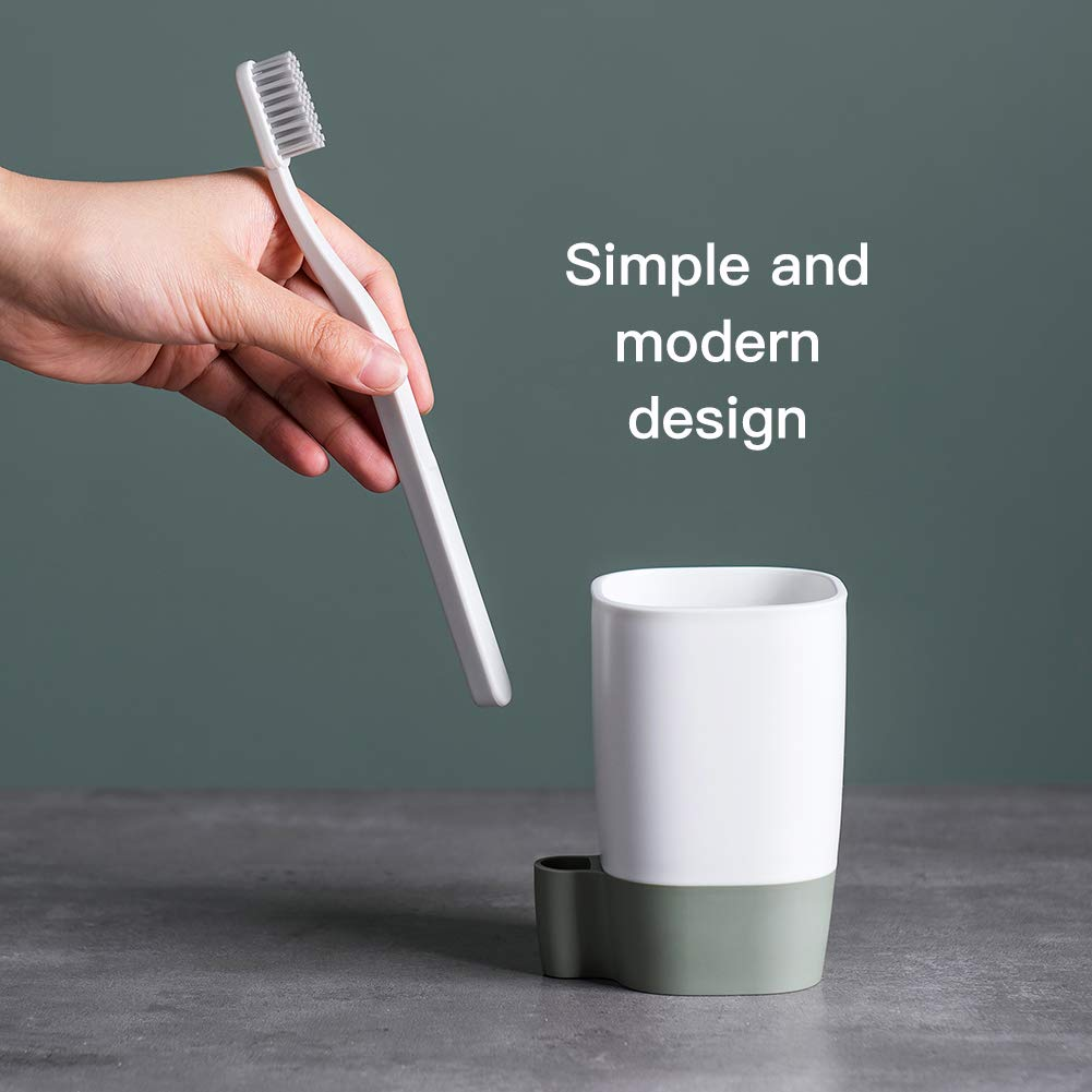 NORTHOME Bathroom Tumblers Rinse Cup for Kids Toothbrush Cups Unbreakable and Bpa Free Eco Friendly 2pcs (White)