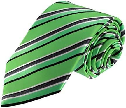Glennbrook Mens Necktie Formal Stripe Series Fashion Tie Set with Pocket Square