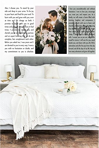 Wedding Vows Art, Set of 3 Canvas Prints, Custom Canvas Prints, Wedding Vows Photo, Wedding Keepsake, Anniversary Canvas, Canvas Over Bed by PicturePerfectbyJody