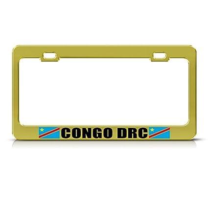 B.FCombat - Marco para matrícula de Coche con diseño de la Bandera del Congo