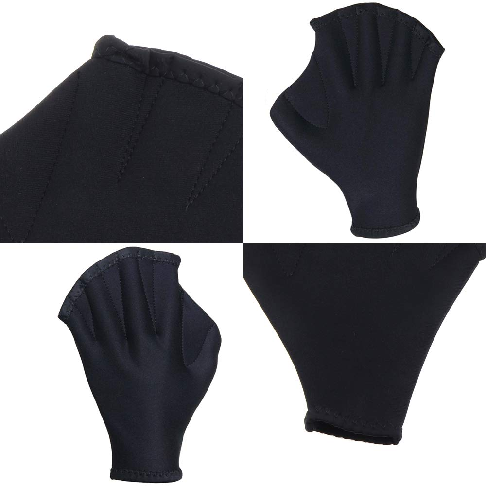 SENDOU Premium Neoprene Fingerless Webbed Flippers Gloves for Swimming Black Boating,Training and Paddle Training and Paddle Made in China Diving