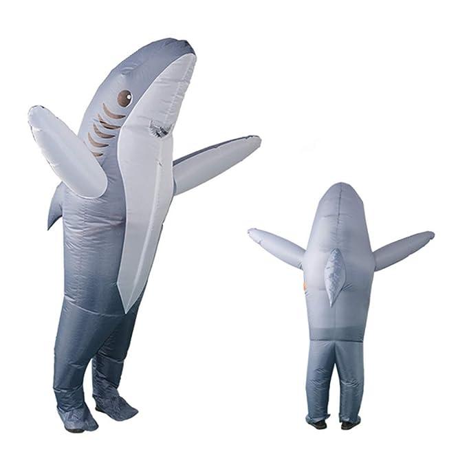 Amazon.com: GUAITAI - Disfraz de tiburón gris inflable con ...