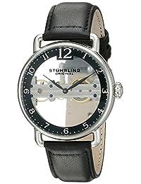 Stuhrling Original Men's 976.01 Bridge Analog Display Mechanical Hand Wind Black Watch