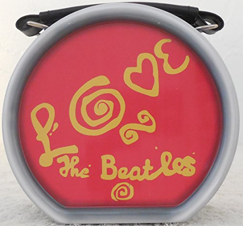 The Beatles 'LOVE' Drum Mini Tin Tote With Leatherette Handle by Vandor ()