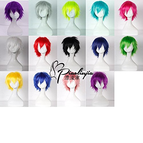 Custom wigs juvenile anti-Alice short hair black and brown short-haired blue-violet universal gold and silver wig -
