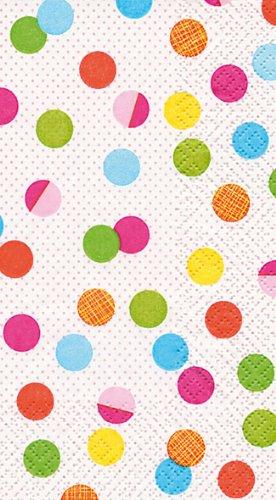 16 Servilletas Fiesta Dots Puntos 40 x 33 cm, 3 capas, toalla de invitados