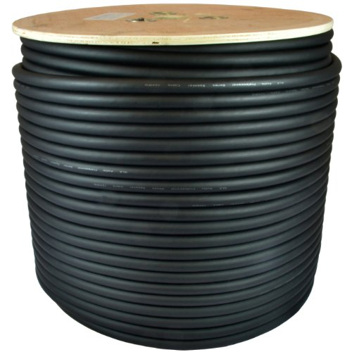 GLS Audio 500 feet Bulk Professional Speaker Cable 12AWG Black - Patch Cord 12 Gauge Wire - Pro 500' Spool Roll 12G 2 Conductor Bulk (Audio Professional)