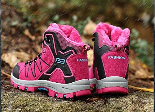 di da scarpe da da di esterno trekking neve impermeabili da oltre KUKI rose scarpe alto 8012 livello caldi da cachemire antiscivolo a donna da invernali scarpe maschili Stivali cotone donna red scarponi OUvwfq7x