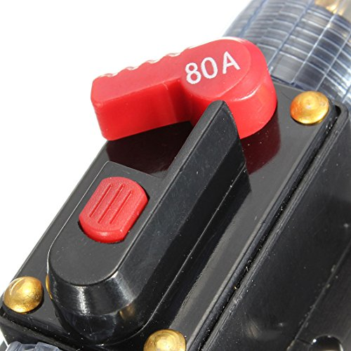 DC 12V/24V/32V Car Stereo Audio Circuit Breaker Inline Fuse Holder (80A) by QUhang (Image #5)