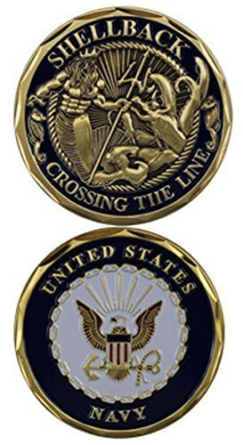 (Eagle Crest United States Navy Shellback Challenge Coin 3097)