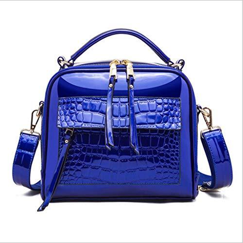 De Bolsos Purple Bolsas Pequeñas De Blue Bolsos Bolsos Bolsos Cuero De Cocodrilo Mujer Bolsas Brillante Hombro REBf6qwwdx