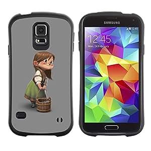 """Hypernova Slim Fit Dual Barniz Protector Caso Case Funda Para Samsung Galaxy S5 [De los niños de la historieta Modelo Carácter""""]"""