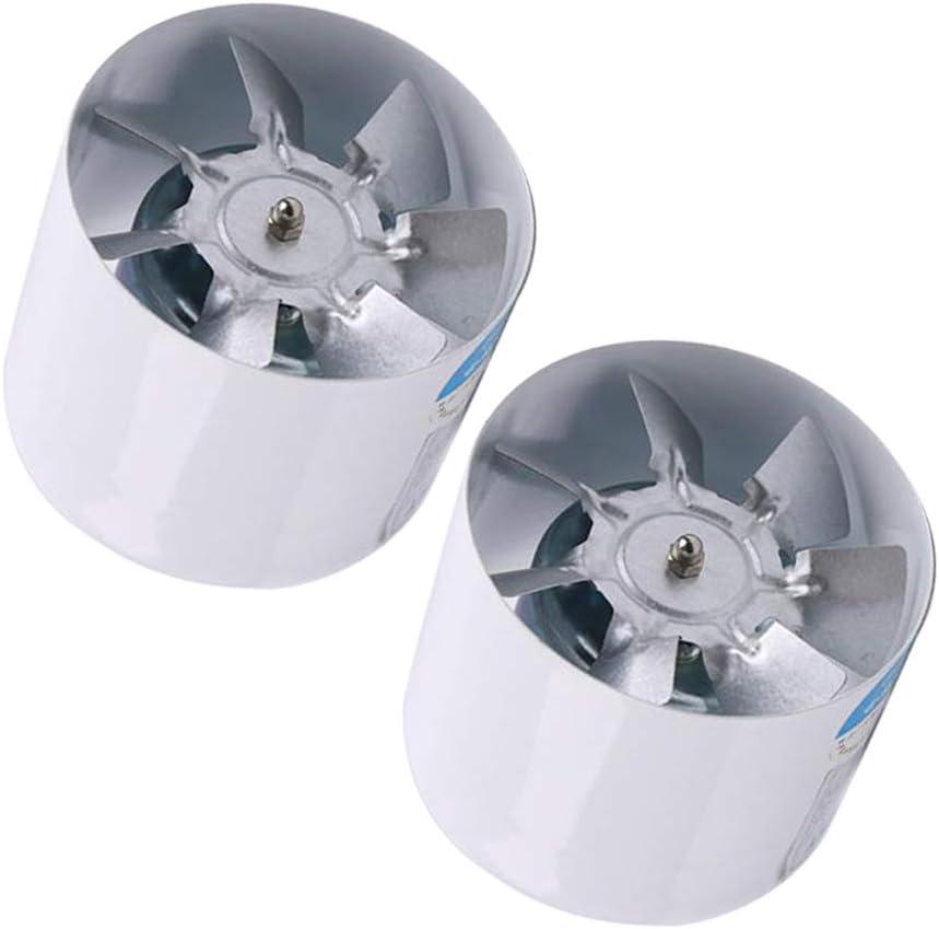 Kits de 4 Pulgadas Ventilador de Extractor de Baño de Cocina Silencioso y de Bajo Consumo, Ventilador de Conducto de 100mm, Color Blanco: Amazon.es: Hogar