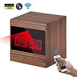WiFi Hidden Camera Clock -Full HD 1080P Wireless Spy Camera Alarm Clock P2P Mini IP Camera Home Security Surveillance Camera Recorder with Night Vision Remote Control