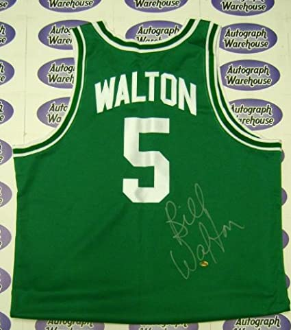 reputable site 585ae aa8b7 Bill Walton autographed Jersey (Boston Celtics) GREEN JERSEY ...