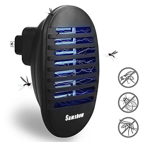 Samshow Bug Zapper, Mosquito Killer, Indoor Insect Killer Electronic Repeller - Eliminates Most Flying Pests (Black) by Samshow
