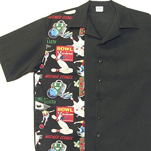 Men's Bowling Shirts Vintage Retro Print (Medium) (Bowling Classic Shirt)