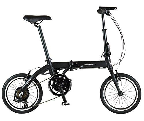 trance 모바이리 (TRANS MOBILLY) ULTRA LIGHT E-BIKE AL-FDB166E 접이식 어시스트 자전거 16인치 알루미늄 프레임 LED라이트 부착 마그넷 탈착식 배터리 채용 92203-0199 블랙