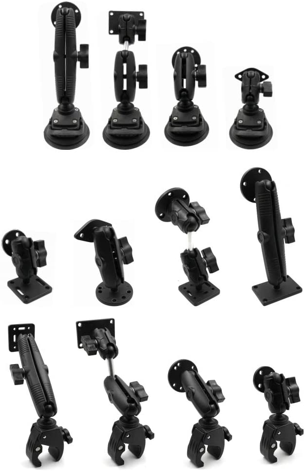 Compatible with RAM 6.7 in iBolt and More Marine Aluminum Double Socket Arm for All Industry Standard 1 inch // 25mm // B Size Ball adapters Arkon