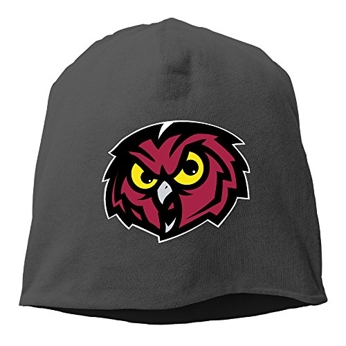 [Caromn Temple University Owls Beanies Skull Ski Cap Hat Black] (Man Hooters Costume)