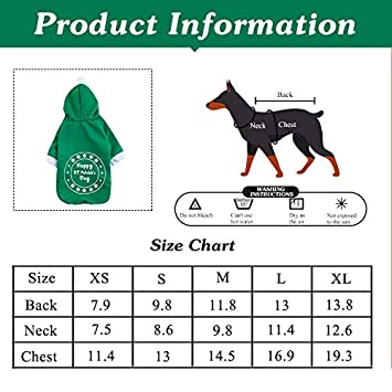 Coomour Pet Dog Happy Valentines Day Hoodies Cat Heart Costume Puppy Clothes for Dogs Cats Outfit