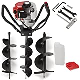 """ARKSEN 52CC 2 Stroke Gas One Man Auger Post Hole Digger (Digger + 6"""" 8"""" 10"""" inch Bits)"""