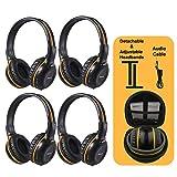 4 Pack of DVD Wireless Headphones, Car Kids Headphones, IR Headphones for Car