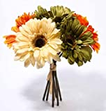 Artificial-Silk-Shades-of-Autumn-Gerbera-Daisy-Bundle-for-Floral-Arranging-Crafting-and-Home-Decor