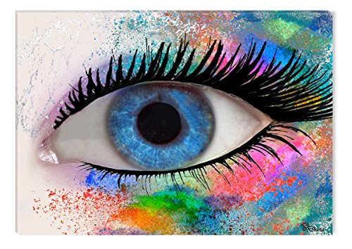Startonight Canvas Wall Art Fashion Eye by Diana, Illuminated Painting USA Design, Modern Home Decor Framed Print Abstract (31.5 X 47.2 (Halloween Decor Hobby Lobby)