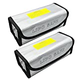 Abaige 2 Packs Fireproof LiPo Battery Bag (185x75x60mm) for Safety Charging Storage & Travel with Safe Fire and Explosion Resistant Material for RC Drone Car Lipo Battery