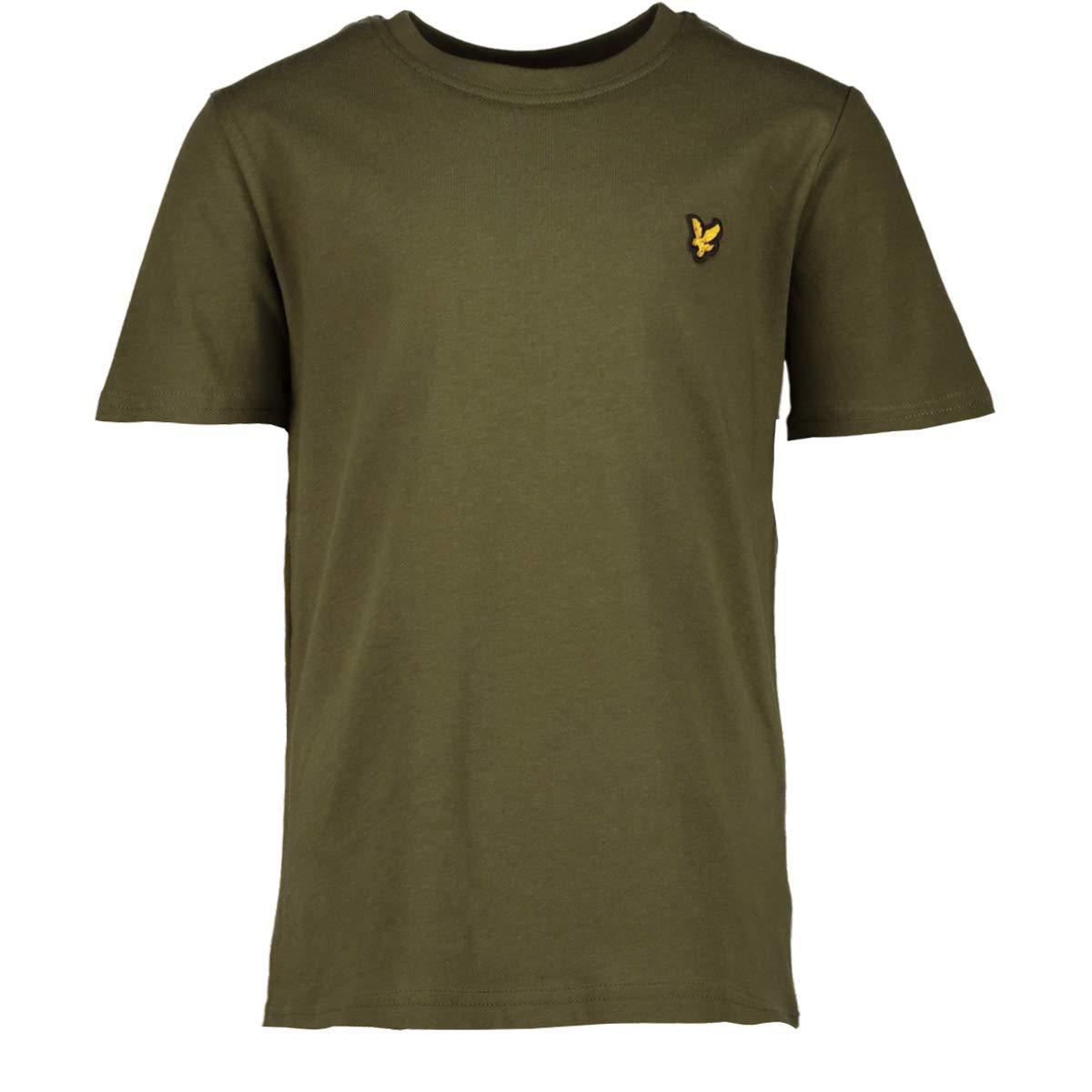 Lyle Scott Junior - Plain Crew T Shirt, Woodland Green Lyle And Scott Junior