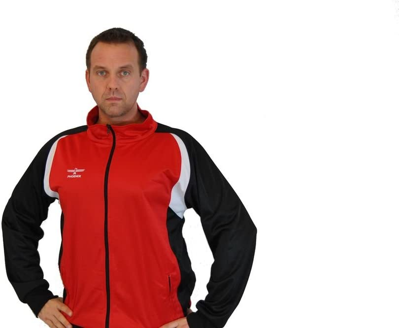 Phoenix Tracksuit Jacket Red-Black