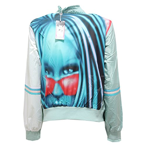 Azzurro 2563r Jacket My Custo Donna 38 Fuse Girl Giubbotto Barcelona Woman 1nxHw0Brn7