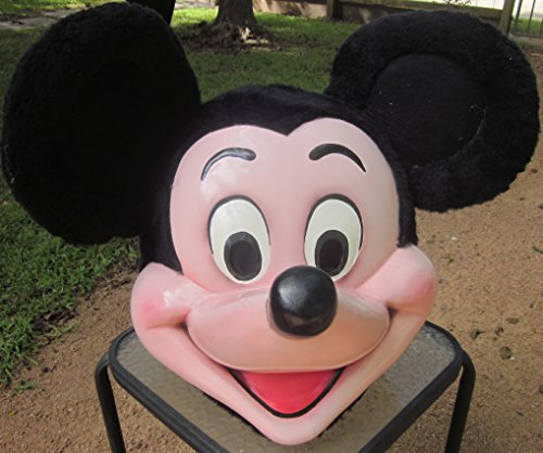 Mickey Mascot Costumes (Mickey Mouse Fiberglass Head Mascot Costume Adult Cartoon Character Costume)