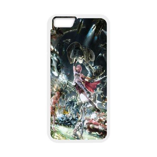 Final Fantasy Xiii coque iPhone 6 Plus 5.5 Inch Housse Blanc téléphone portable couverture de cas coque EOKXLLNCD10398