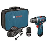 Bosch PS32-02 12-volt Max Brushless 3/8-Inch Drill/Driver Kit with 2.0Ah Batteries, Charger and Case