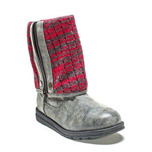 Mujeres Rojo Demi Grey Gris Muk Luks Boot Mukluks MARL AHqwgEItx