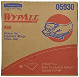 Wypall X80 Reusable Wipes (05930), Extended Use Wipers Pop-Up Box Format, Red, 80 Sheets/Box