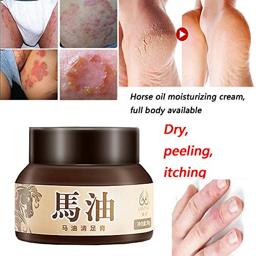 Euone Horse Oil Cracked Heel Balm Cream for Rough Dry & Cracked Chapped Feet Heel Skin (32 Piece Beauty Set Makeup)
