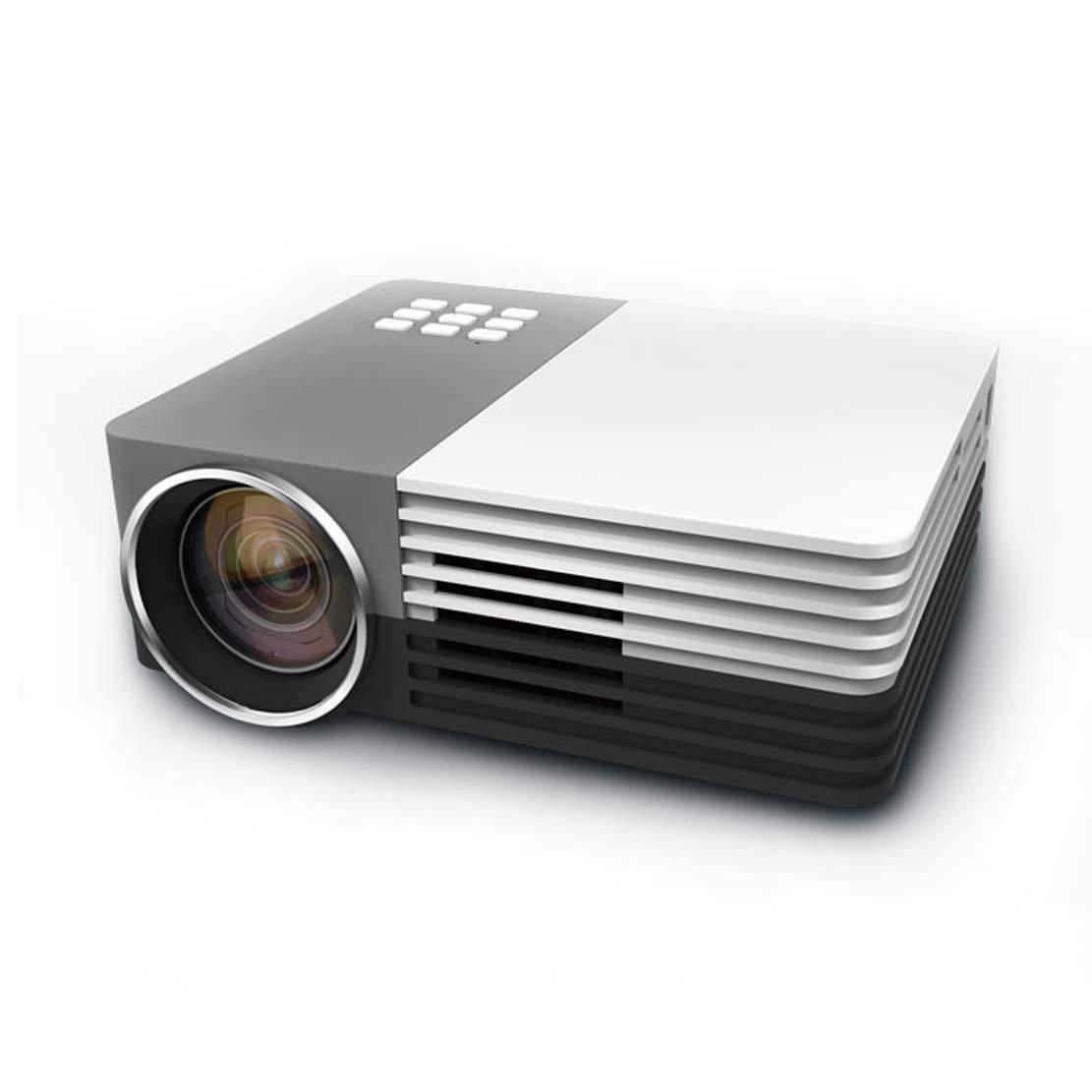 プロジェクター HD 1080 Pミニポータブル短焦点投影寿命20000時間以上HDMI USB VGAなどのさまざまなソースとの互換性 B07RPNMHB4