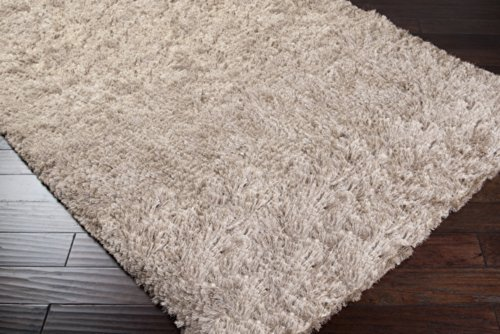 picture of Candice Olson by Surya Whisper WHI-1000 Shag Hand Woven 100% Polyester Feather Gray 8' x 10' Area Rug