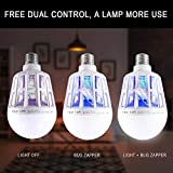 2 Pack Bug Zapper 2-in-1 Mosquito Light Bulbs